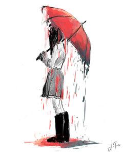 Girl Under the Umbrella by abrider3 on DeviantArt
