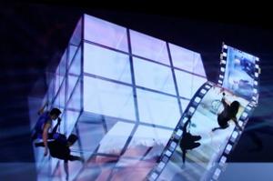 dance ballet dance  camera projection
