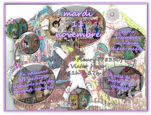 Atelier mixed-media dans les Yvelines le 11 novembre...