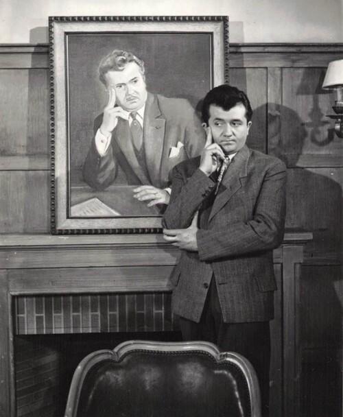 """Jean Richard dans le film : """" Le Portrait de son père"""" de 1953"""