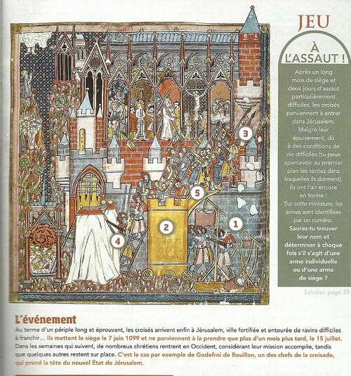 Image sur la prise de Jérusalem (source: revue du CDI)
