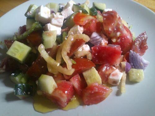 Une salade toute fraiche pour voyager en grèce