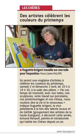 EXPO Les Chères, un article dans le Progrès