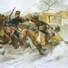 Français contre cosaque campagne de russie 1812 peint par Nicolas Semenovitch