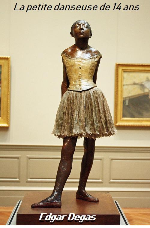 Dessin et peinture - vidéo 2924 : Une oeuvre du peintre impressionniste français Edgar Degas ( 1834-1917 ) expliquée par le roman - La petite danseuse de 14 ans ( de 1875 à 1880).