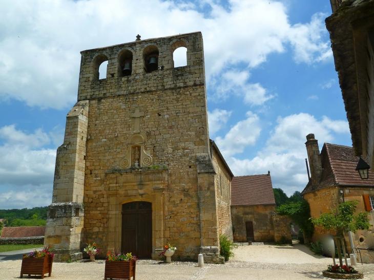 Eglise Saint-Eutrope, construite essentiellement au XII° - Meyrals