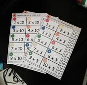 Mes fiches logico  : les tables de multiplication