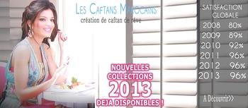 Caftan marocain et takchita tendance 2012 et 2013