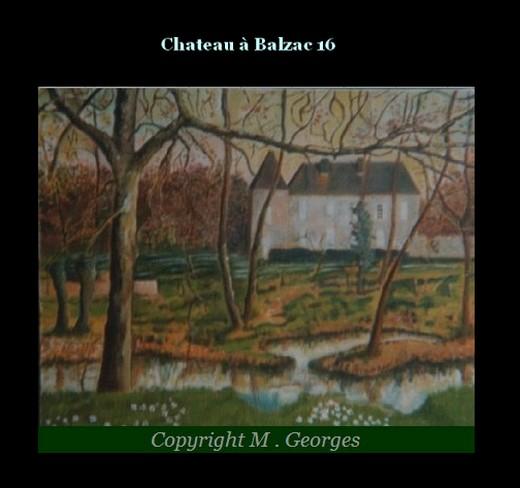 Chateau   à Balzac 16 Tableau de M . Georges