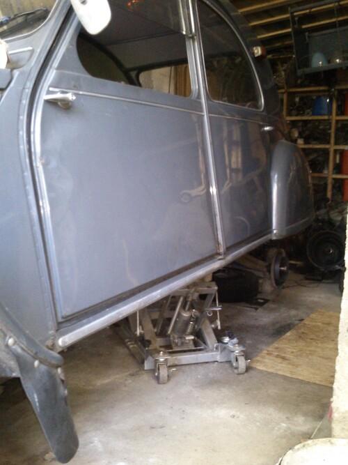 un peu de travail au Garage