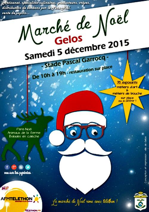 Marché de Noël 2015 à Gelos