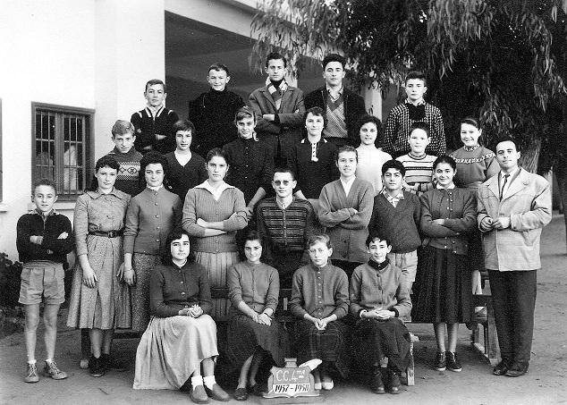 Classe de 4ème 1957-1958
