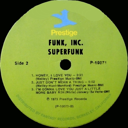 "Funk Inc. : Album "" Superfunk "" Prestige Records P-10071 [ US ]"