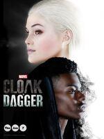 Marvel's Cloak & Dagger : Tyrone Johnson et Tandy Bowen, deux adolescents issus de milieux sociaux différents, découvrent suite à leur rencontre qu'ils sont tous les deux dotés de superpouvoirs qui étaient jusqu'ici dormants et qui les lient mystérieusement l'un à l'autre. Face à leurs sentiments naissants et aux nombreuses menaces du monde qui les entoure, Tyrone et Tandy ne tardent pas à comprendre qu'ils sont plus forts ensemble et ont tout intérêt à s?allier plutôt qu?à poursuivre des routes séparées. ... ----- ...  Nombre de saison(s) : 1 Nombre d'épisode(s) : 10 Origine : U.S.A. Acteurs : Olivia Holt, Aubrey Joseph, Andrea Roth, Gloria Reuben, Miles Mussenden Genre : Fantastique, Romance, Action Durée : 42 Année de commencement : 2018 Titre original : Marvel's Cloak & Dagger Critiques Spectateurs : 3,4