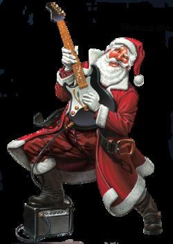 Tube Père Noël rockeur