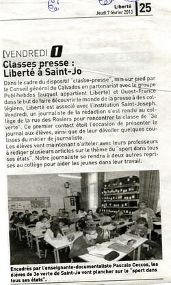 Semaine de la presse au collège