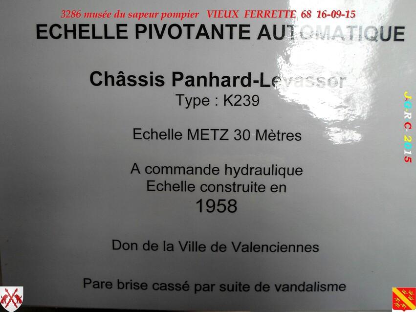 Musée du Sapeur Pompier d'ALSACE  3/4  25/26   VIEUX FERRETTE  68   D 16-09-2016