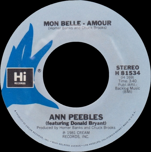 "Ann Peebles : Album "" The Handwriting Is On The Wall "" Hi Records HLP 6007 [ US ]"