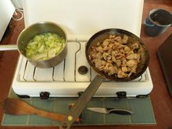 Curry vert de dinde et légumes de saison