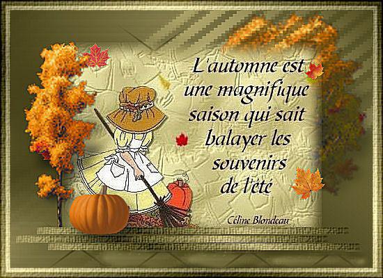 Feuilles d'automne  ...  poème signé Georges Hamel  !