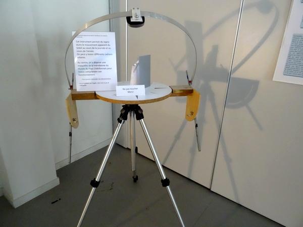 Des cadrans solaires ont été exposés au Musée du Pays Châtillonnais pour les Journées du Patrimoine...