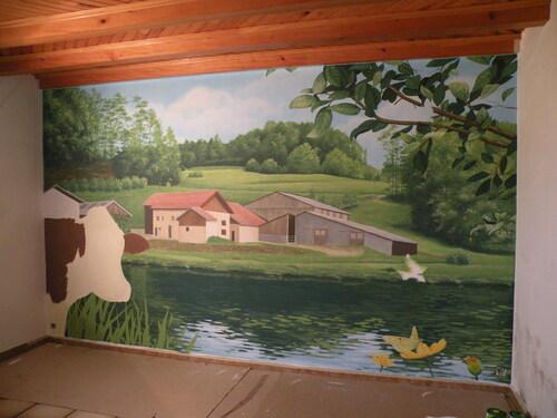 La ferme sur le mur