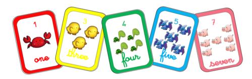 Les couleurs et les nombres de 1 à 10