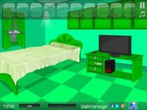 Lovely green room escape