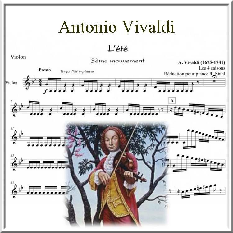 28 juillet       : naissance d' Antonio Vivaldi