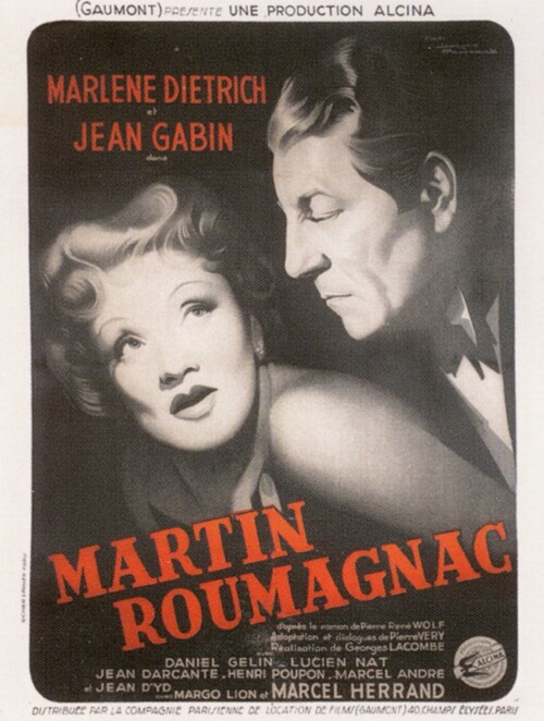 MARTIN ROUMAGNAC - BOX OFFICE JEAN GABIN 1946