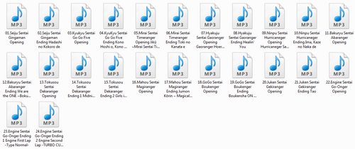 Super Sentai Anthologie MP3 320kbps