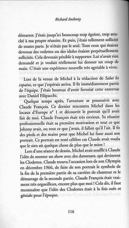 L'HISTOIRE DU PORTRAIT DE CLOCLO RACONTEE PAR RICHARD ANTHONY