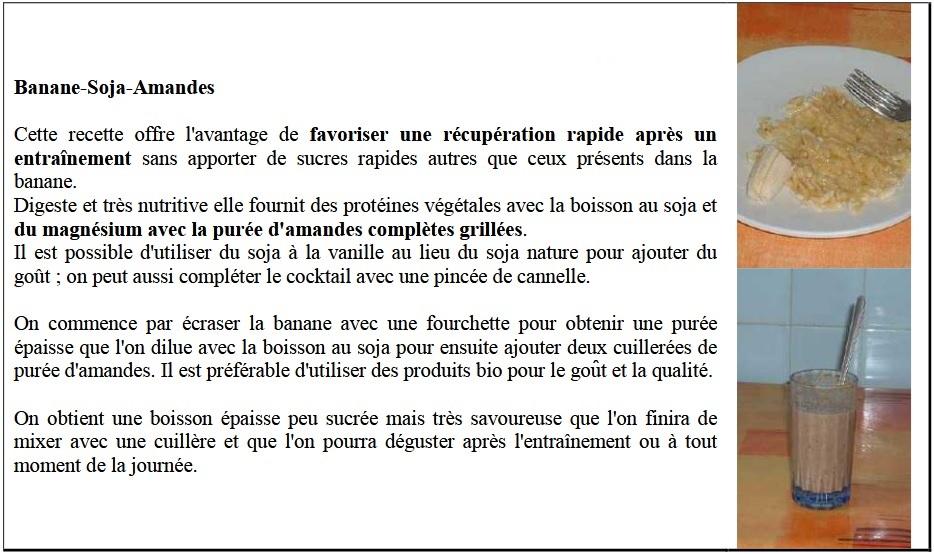 Boisson Banane-Soja-Amandes