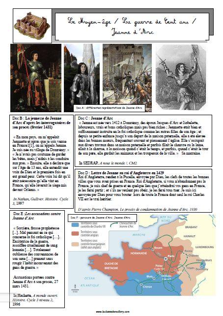 Le Moyen-âge : la guerre de cent ans