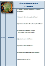 "Questionnaires modifiables ""la France"""