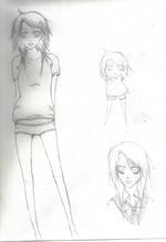 fille dessin manga