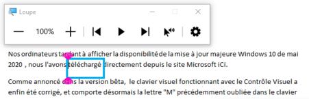Lire du texte par voix de synthèse depuis la loupe de Windows 10