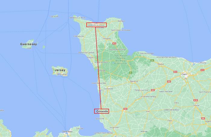 De Granville à Cherbourg.