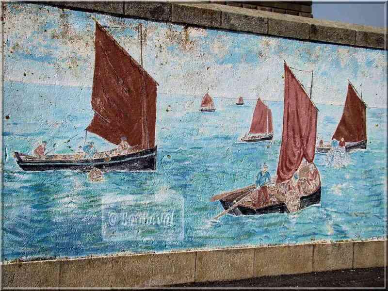 * Finistère * fresque murale histoire Penmarc'h