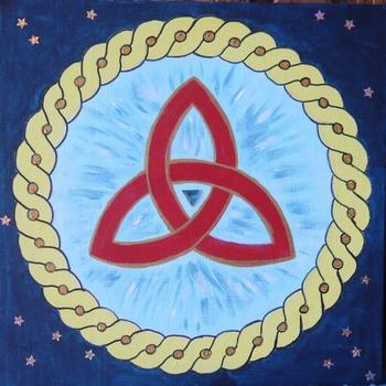 mandala triangle celtique 1