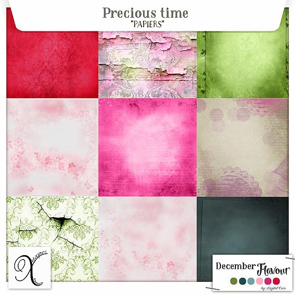 Precious time Papiers de Xuxper Designs