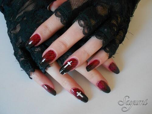 Nail Art Sexy Gothic Halloween