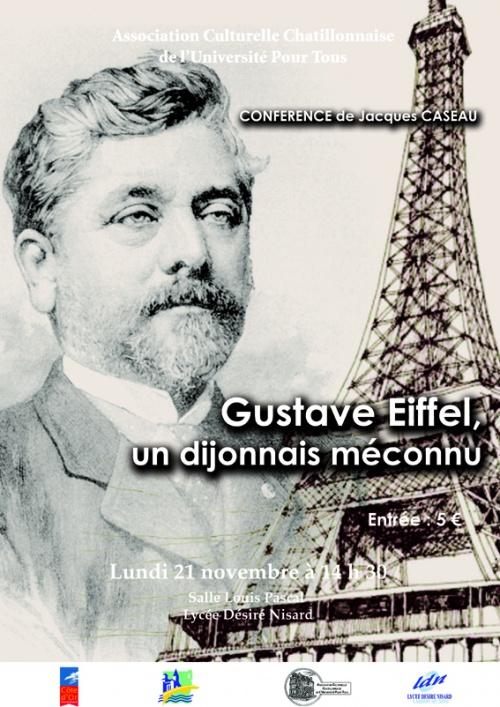 Gustave Eiffel, une conférence proposée par l'Association Culturelle Châtillonnaise...
