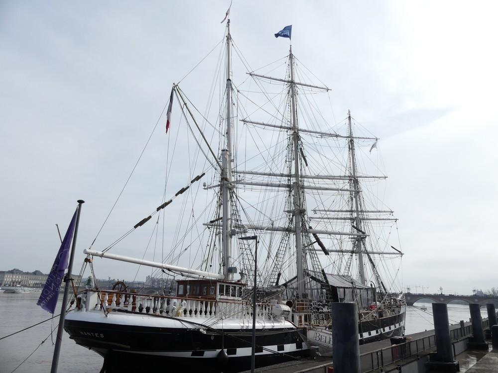 Bordeaux, port d'hivernage pour le Belem...