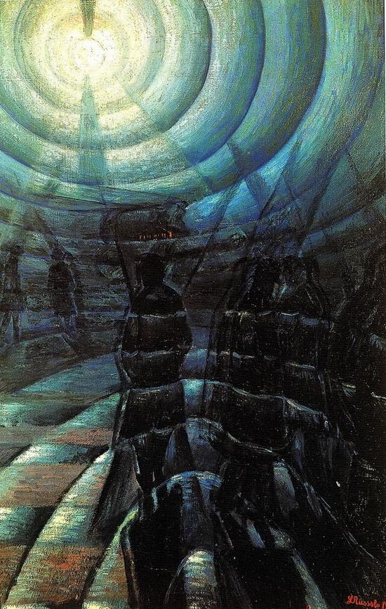 Luigi Russolo, La solidité du brouillard, 1912