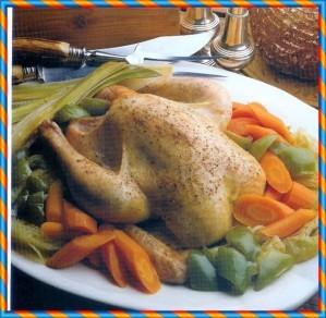 25 poulet braisé au four et aux légumes