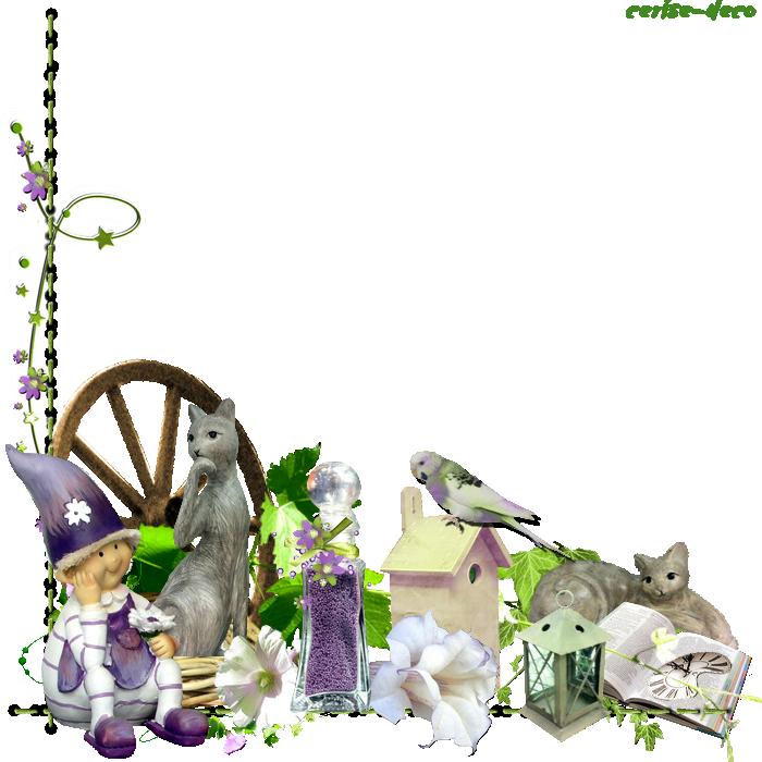 cadeau : un cluster chat au jardin et participation à mes clusters