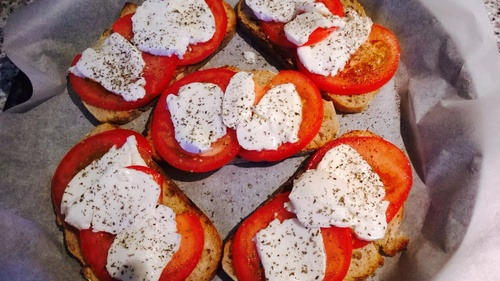 Recette brushetta tomates mozzarella