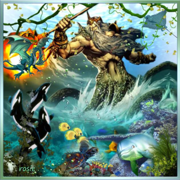 Posséidon roi de la mer