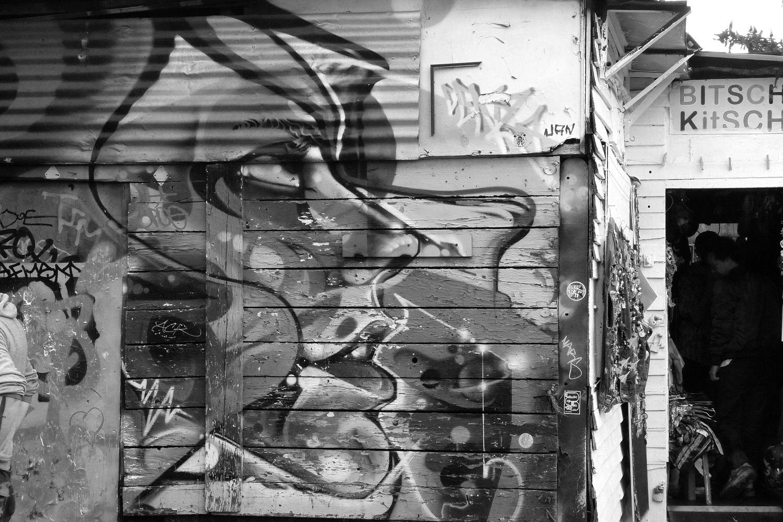 street art à Londres en N&B #171020